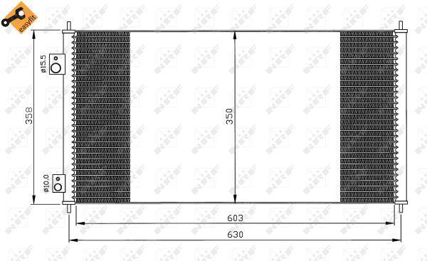 climatisation 35663 pour HONDA Hoc Condenseur